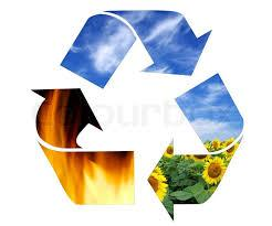 Recycling symbol with arrows