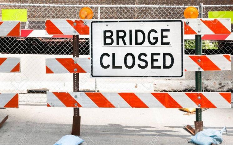 bridge closed sign