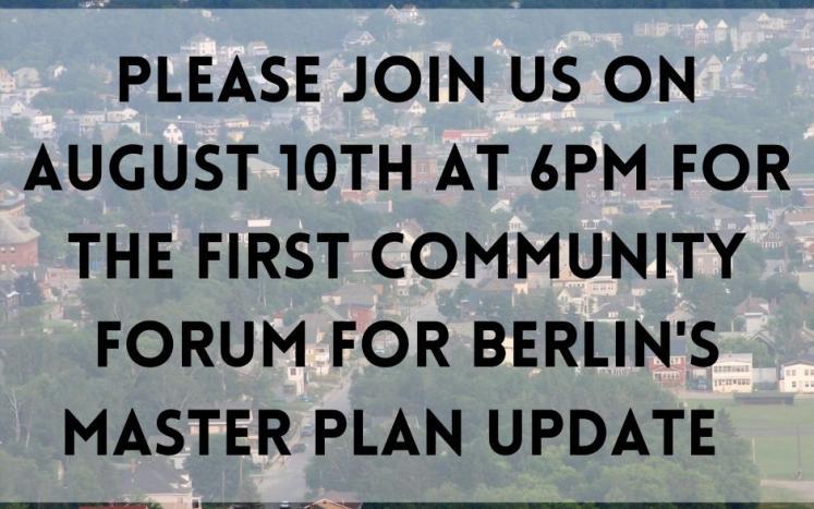 Master Plan Community Forum August 10, 2021 6PM